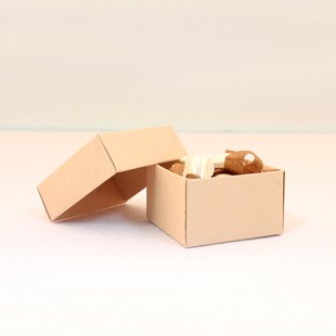 Krem rengi alçak boy kare kutu