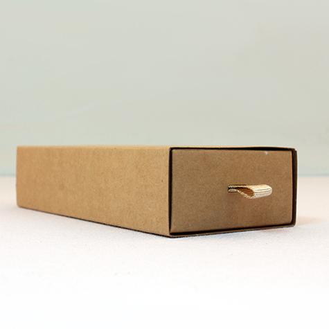 Kraft çekmeceli bölmeli kutu